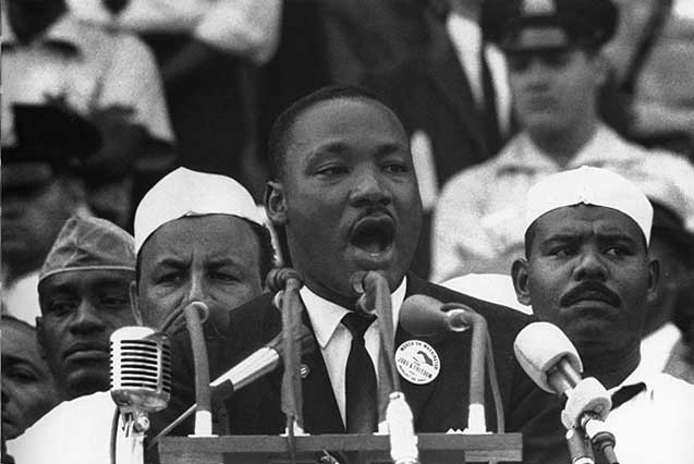 Dr. King giving his I Have A Dream speech